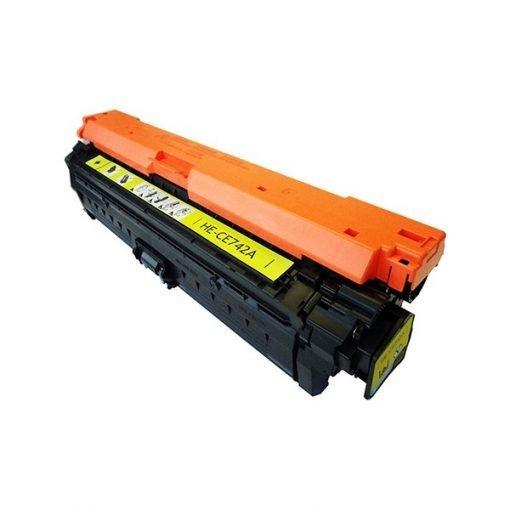 Toner Compatibile Hp CE742A colore Giallo, 7000 pagine. Compatibile con stampanti HP Color LaserJet CP5220, HP Color LaserJet CP5225